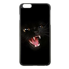 Cat Animal Cute Apple Iphone 6 Plus/6s Plus Black Enamel Case by AnjaniArt