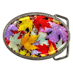 Coloorfull Leave Belt Buckles by AnjaniArt