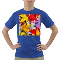 Coloorfull Leave Dark T Shirt by AnjaniArt