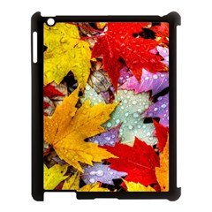 Coloorfull Leave Apple Ipad 3/4 Case (black) by AnjaniArt