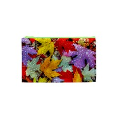 Coloorfull Leave Cosmetic Bag (xs) by AnjaniArt