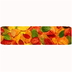 Colorful Fall Leaves Large Bar Mats by AnjaniArt