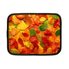 Colorful Fall Leaves Netbook Case (small)  by AnjaniArt