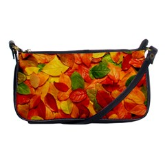Colorful Fall Leaves Shoulder Clutch Bags by AnjaniArt