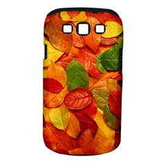 Colorful Fall Leaves Samsung Galaxy S Iii Classic Hardshell Case (pc+silicone) by AnjaniArt
