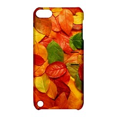 Colorful Fall Leaves Apple Ipod Touch 5 Hardshell Case With Stand by AnjaniArt