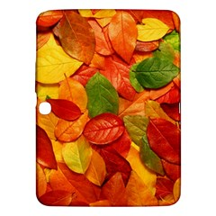 Colorful Fall Leaves Samsung Galaxy Tab 3 (10 1 ) P5200 Hardshell Case  by AnjaniArt