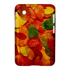 Colorful Fall Leaves Samsung Galaxy Tab 2 (7 ) P3100 Hardshell Case  by AnjaniArt