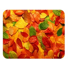 Colorful Fall Leaves Double Sided Flano Blanket (large)  by AnjaniArt