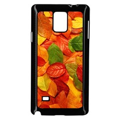Colorful Fall Leaves Samsung Galaxy Note 4 Case (black) by AnjaniArt