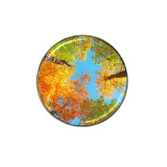 Colorful Leaves Sky Hat Clip Ball Marker (10 Pack) by AnjaniArt