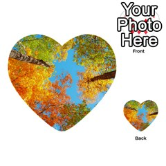 Colorful Leaves Sky Multi Purpose Cards (heart)  by AnjaniArt