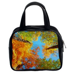 Colorful Leaves Sky Classic Handbags (2 Sides) by AnjaniArt