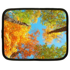 Colorful Leaves Sky Netbook Case (xl)  by AnjaniArt