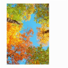 Colorful Leaves Sky Small Garden Flag (two Sides) by AnjaniArt