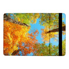 Colorful Leaves Sky Samsung Galaxy Tab Pro 10 1  Flip Case by AnjaniArt