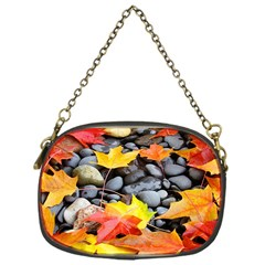 Colorful Leaves Stones Chain Purses (one Side)  by AnjaniArt