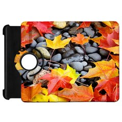 Colorful Leaves Stones Kindle Fire HD Flip 360 Case by AnjaniArt
