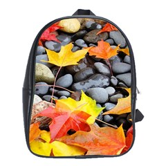Colorful Leaves Stones School Bags (xl)  by AnjaniArt