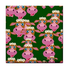 Cow Pattern Tile Coasters