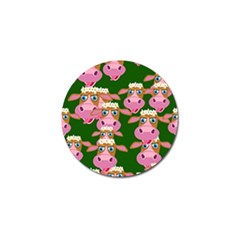 Cow Pattern Golf Ball Marker (10 Pack) by AnjaniArt