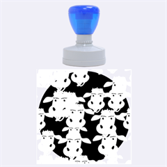 Cow Pattern Rubber Round Stamps (large) by AnjaniArt