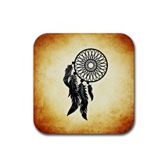 Dream Catcher Rubber Coaster (square)  by AnjaniArt
