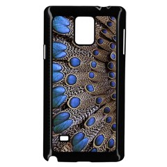 Feathers Peacock Light Samsung Galaxy Note 4 Case (black) by AnjaniArt
