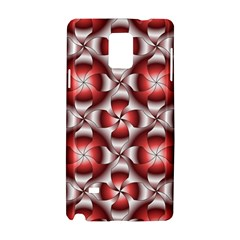 Floral Optical Illusion Samsung Galaxy Note 4 Hardshell Case by AnjaniArt