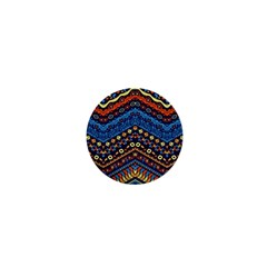 Cute Hand Drawn Ethnic Pattern 1  Mini Buttons by AnjaniArt