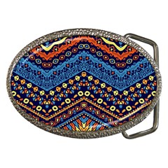 Cute Hand Drawn Ethnic Pattern Belt Buckles by AnjaniArt