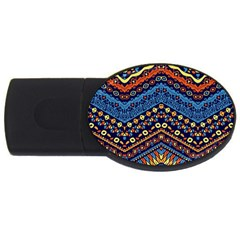 Cute Hand Drawn Ethnic Pattern Usb Flash Drive Oval (4 Gb)  by AnjaniArt
