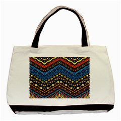 Cute Hand Drawn Ethnic Pattern Basic Tote Bag by AnjaniArt
