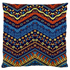 Cute Hand Drawn Ethnic Pattern Large Cushion Case (one Side) by AnjaniArt
