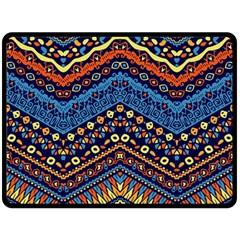 Cute Hand Drawn Ethnic Pattern Double Sided Fleece Blanket (large)  by AnjaniArt