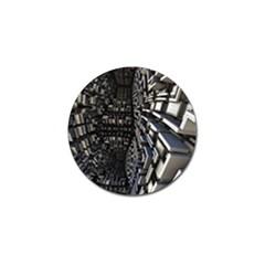 Fractal Art Pattern Golf Ball Marker by AnjaniArt