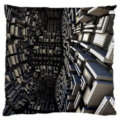Fractal Art Pattern Large Cushion Case (one Side) by AnjaniArt