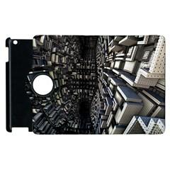 Fractal Art Pattern Apple Ipad 2 Flip 360 Case by AnjaniArt