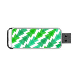 Geometric Art Pattern Portable Usb Flash (one Side) by AnjaniArt