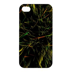 Magic Art Particle Texture Apple Iphone 4/4s Premium Hardshell Case by AnjaniArt