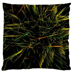Magic Art Particle Texture Large Cushion Case (two Sides) by AnjaniArt