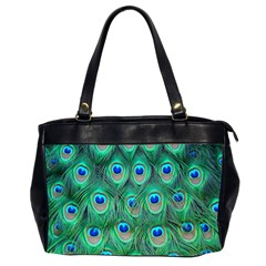 Peacock Feather Office Handbags (2 Sides)  by AnjaniArt