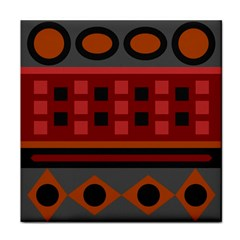 Red Aztec Tile Coasters