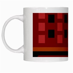 Red Aztec White Mugs