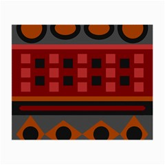 Red Aztec Small Glasses Cloth (2 Side) by AnjaniArt