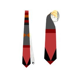 Red Aztec Neckties (one Side)  by AnjaniArt