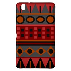 Red Aztec Samsung Galaxy Tab Pro 8 4 Hardshell Case by AnjaniArt