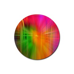 Texture Background Rubber Coaster (round)  by AnjaniArt