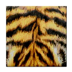 Tiger Fur Painting Tile Coasters