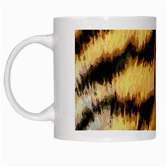 Tiger Fur Painting White Mugs
